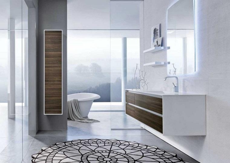 idea originale arredare bagno pavimento decorato