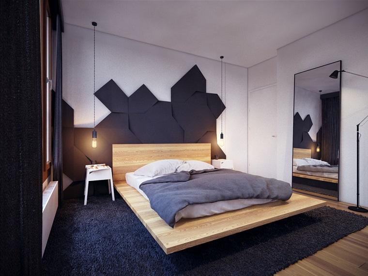 idea originale zona notte letto legno