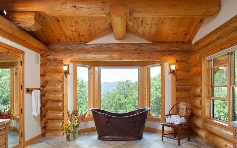 idee per arredare casa bagno rustico