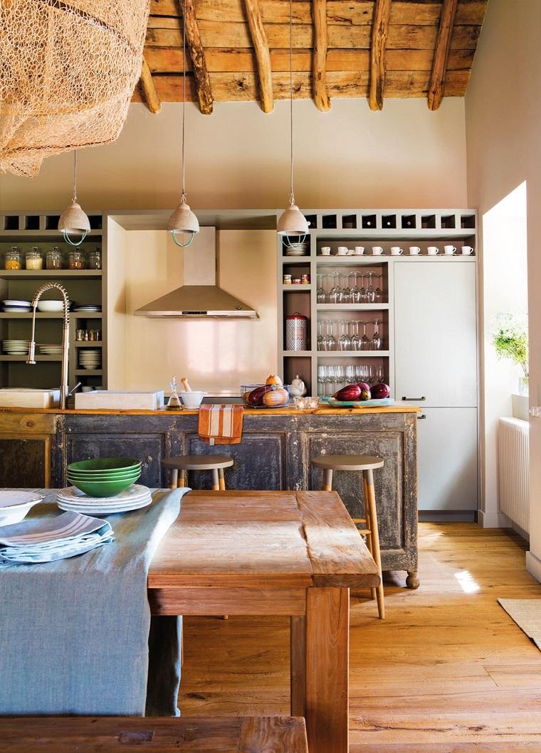 idee per arredare casa proposta cucina rustica