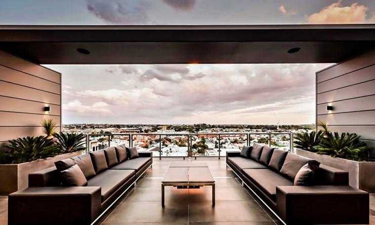 le terrazze suggerimento particolare arredo stile moderno