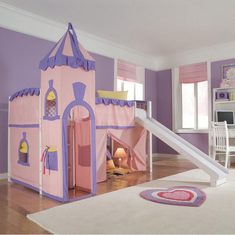 Letti a castello per bambini e alcuni trucchi salvaspazio per la cameretta - Letto castello scivolo ...