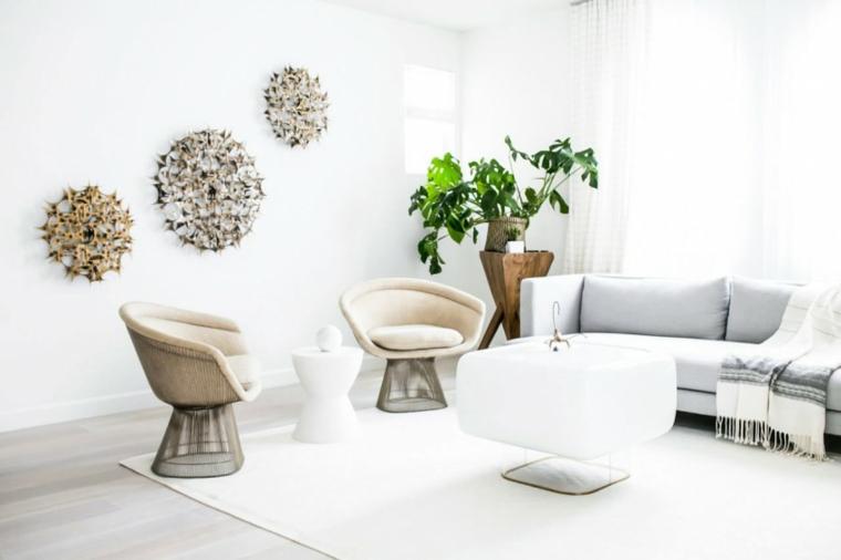 Mobili bianchi per il soggiorno ecco come creare un for Decorazioni pareti soggiorno