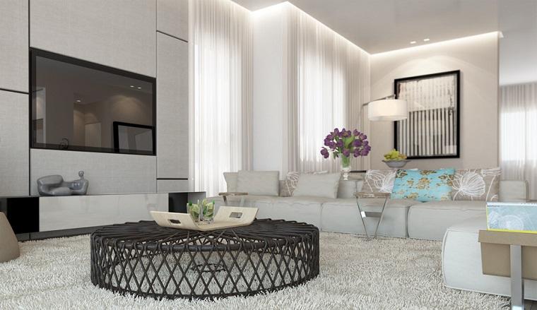 mobili bianchi soggiorno tavolino ferro battuto