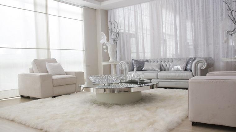 mobili bianchi soggiorno total white