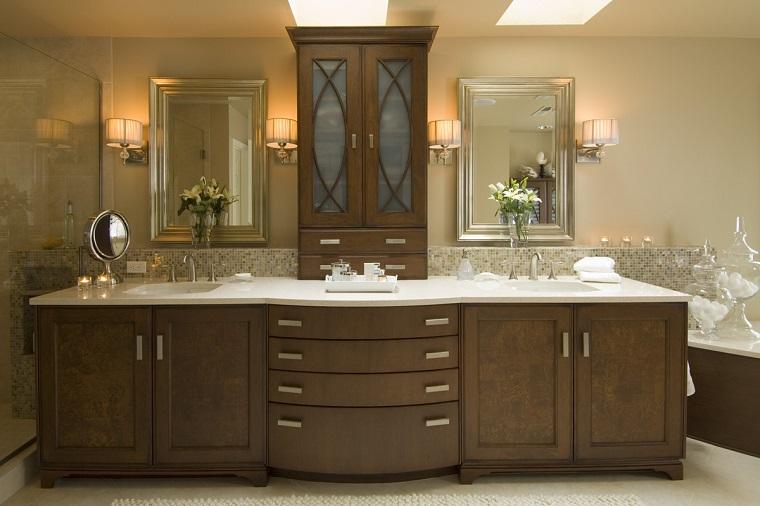 mobili classici bagno proposta legno