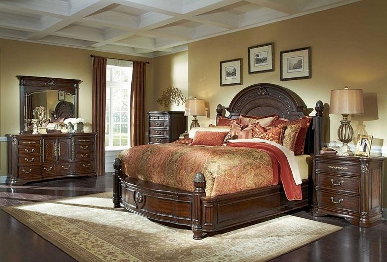 mobili classici camera letto grande tappeto