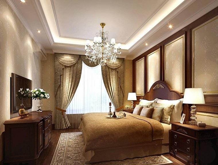 mobili classici camera letto lampadario elegante