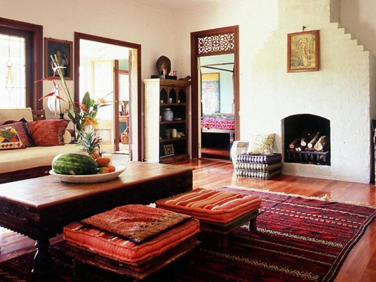 mobili etnici soggiorno stile indiano