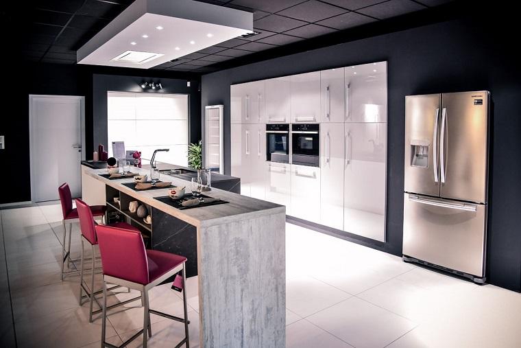 mobili moderni cucina incasso isola centrale