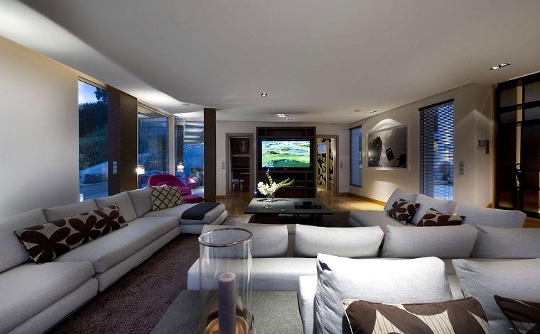 mobili moderni proposta soggiorno grandi divani bianchi