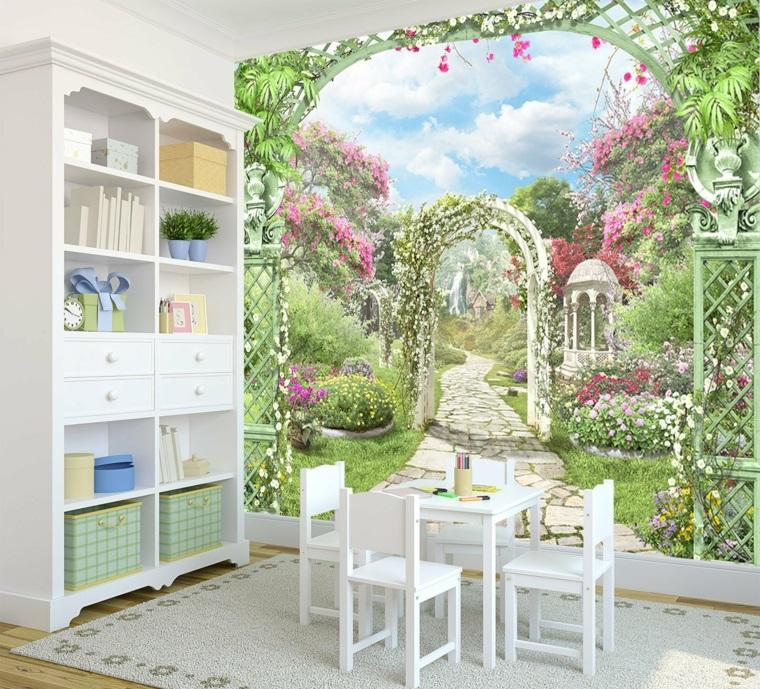 mobili stile provenzale parete decorata
