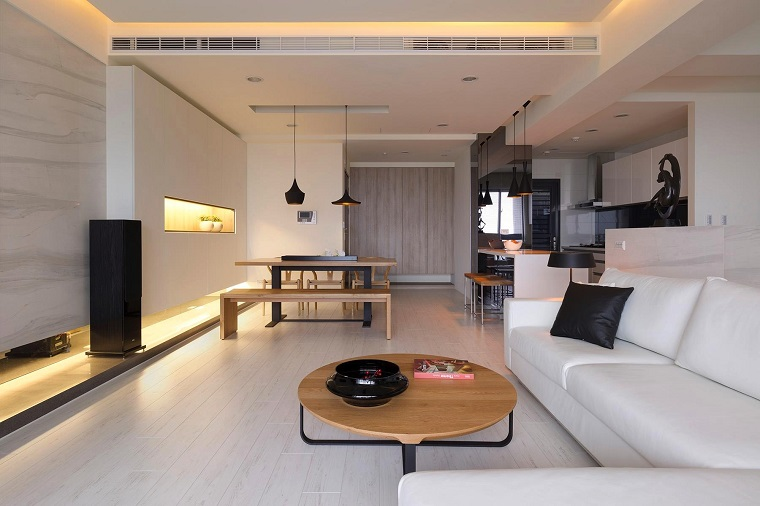 open space arredamento living design moderno