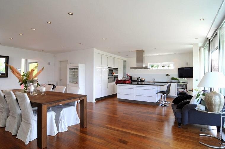 open space arredamento pavimento legno