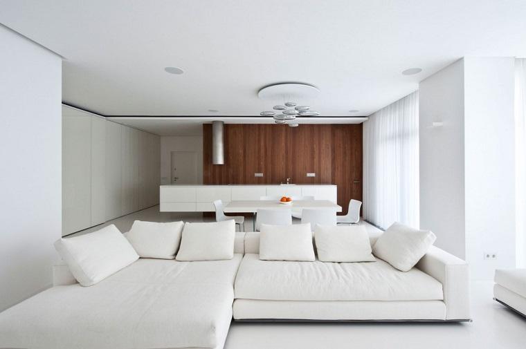 open space arredato bianco design moderno