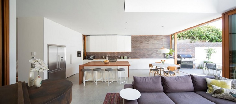 open space elegante design sobrio arredare casa