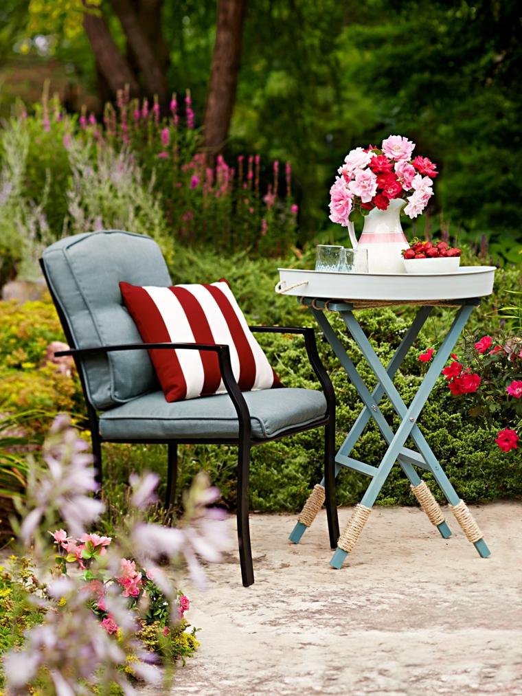 outdoor elegante colorato set mobili vaso fiori