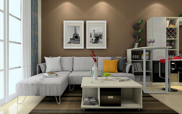 Pareti colorate come personalizzare living e camere da for Immagini pareti colorate soggiorno