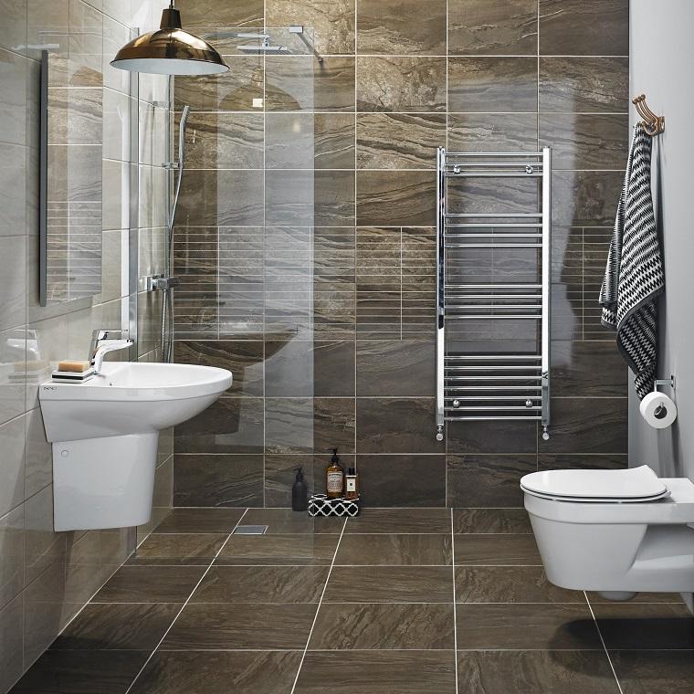 Piastrelle bagno le soluzioni pi innovative per rivestire le pareti in modo originale - Piastrelle pietra bagno ...