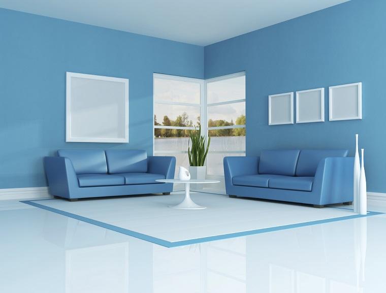Colori Pareti Azzurro : Pitturare casa: i colori le ultime tendenze e le combinazioni per
