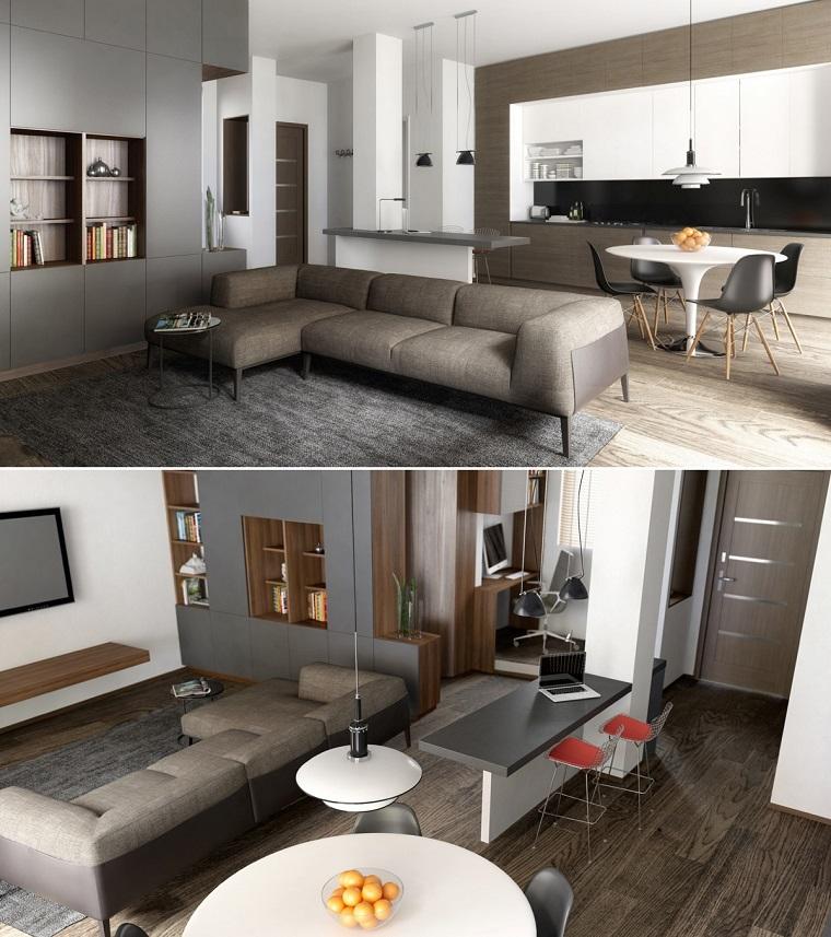Open space arredamento il nuovo concetto per un for Arredamento casa moderna piccola