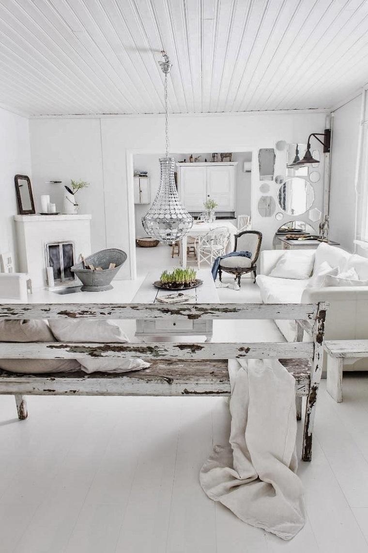 Mobili bianchi per il soggiorno ecco come creare un for Mobili design vintage