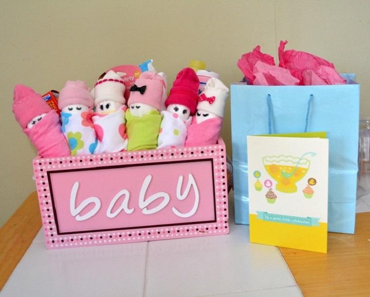 regalo nascita baby box rosa fai da te