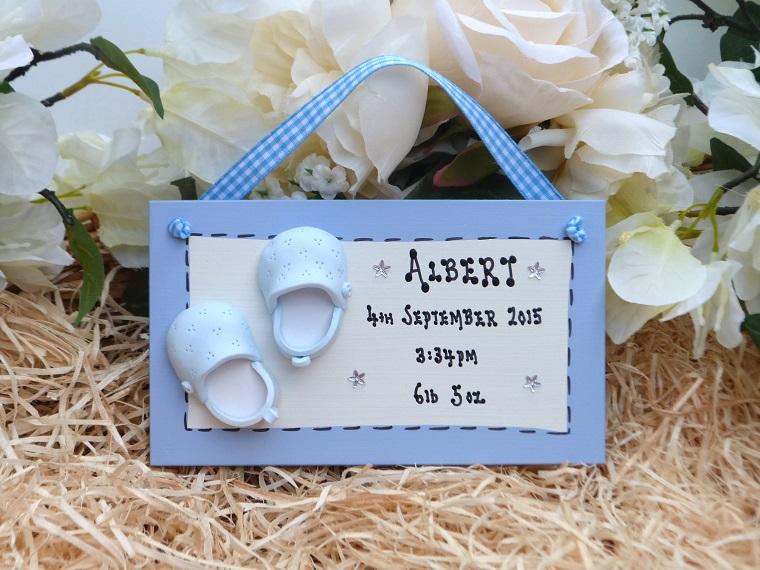 regalo nascita bimbo scarpine nome data