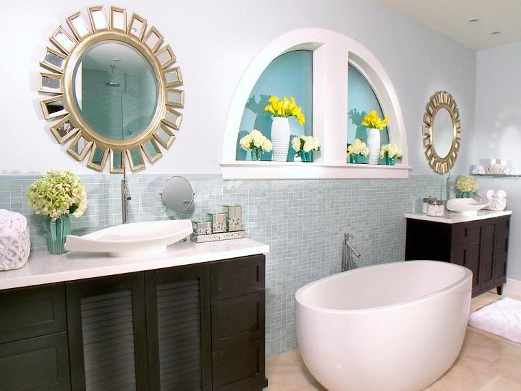 rivestimento bagno ceramica vasca freestanding