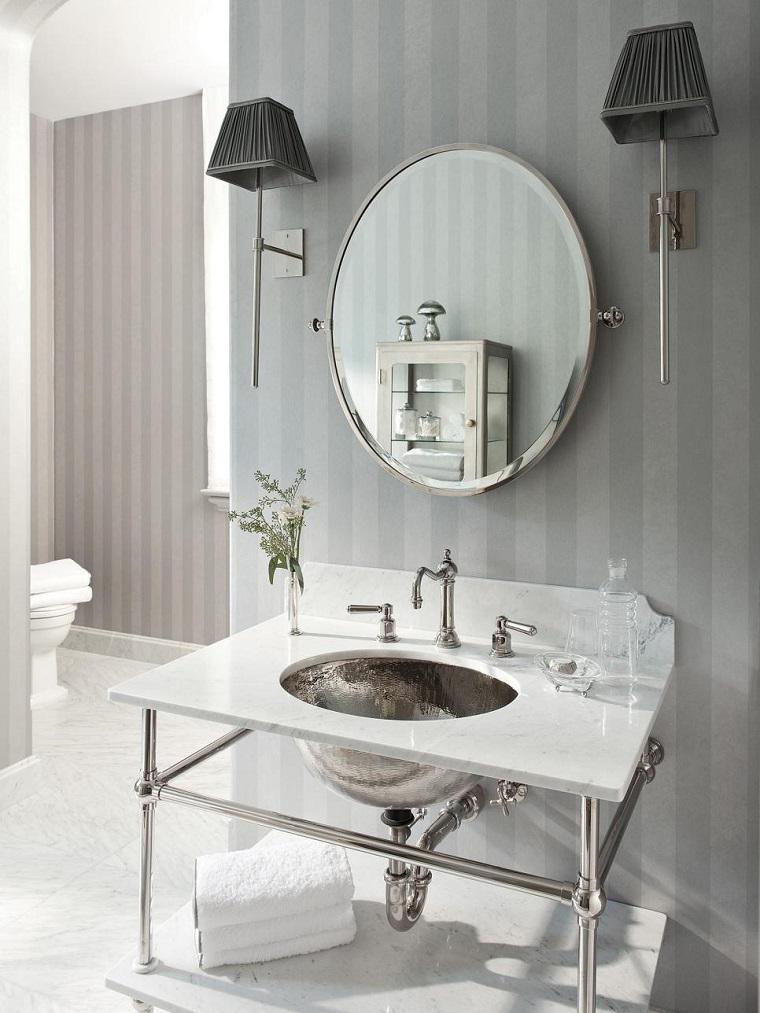 rivestimento bagno design classcico parete carta parati