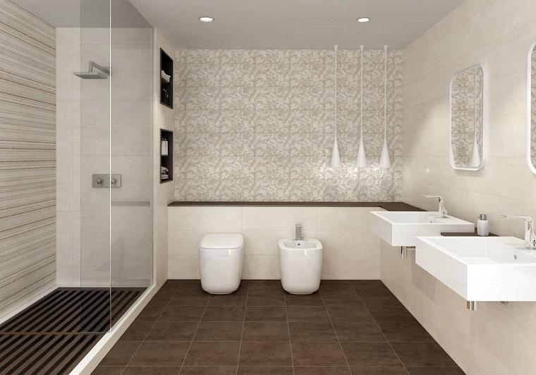 rivestimento bagno design moderno sanitari colore bianco