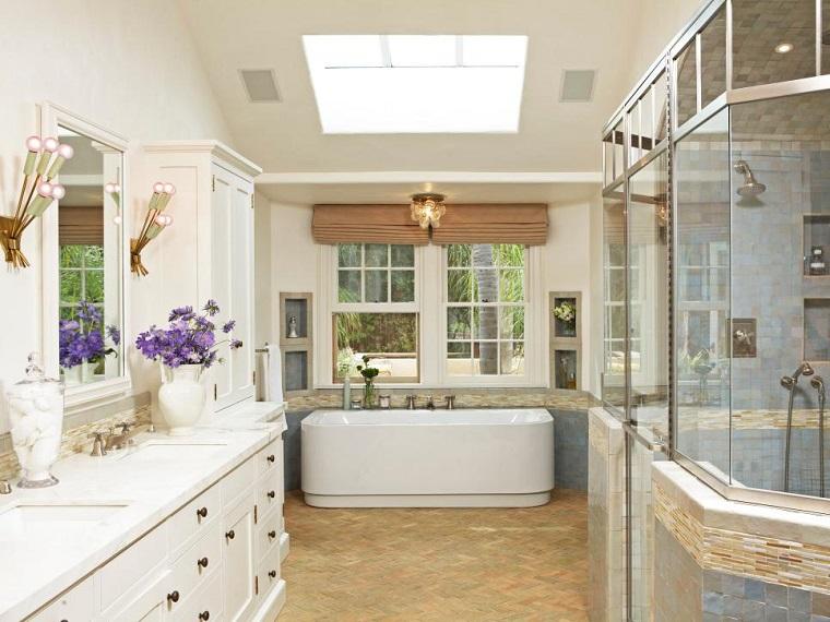 rivestimento bagno dimensioni grandi pavimento legno