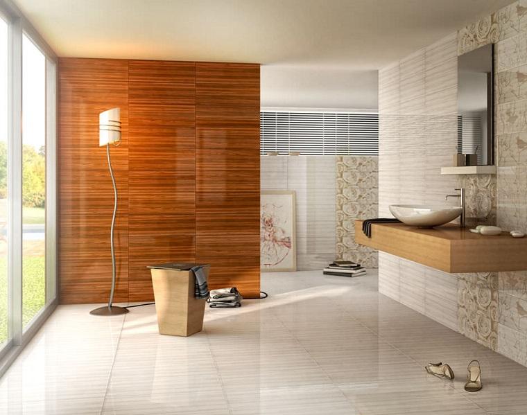 Rivestimento bagno tante idee moderne per rinnovarne il - Rivestimento bagno legno ...