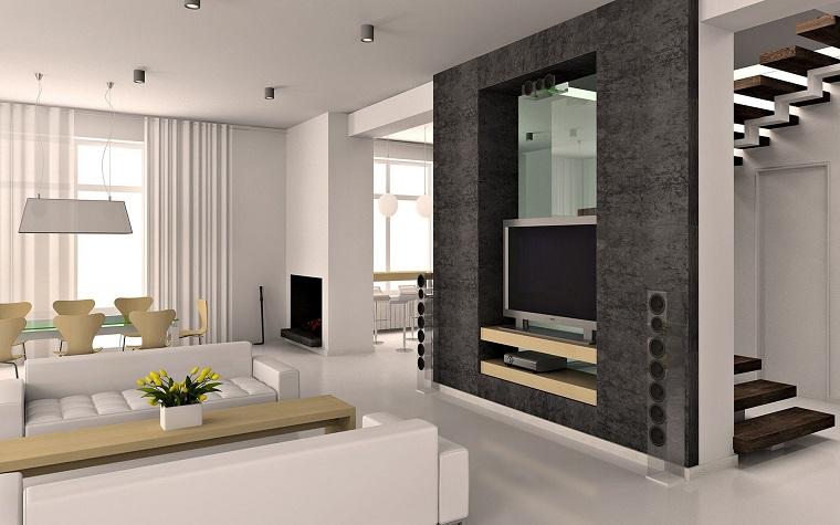 soggiorni moderni parete tv avanguardia
