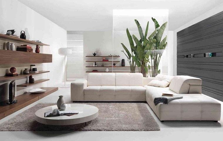 soggiorni moderni proposta innovativa divano angolare bianco