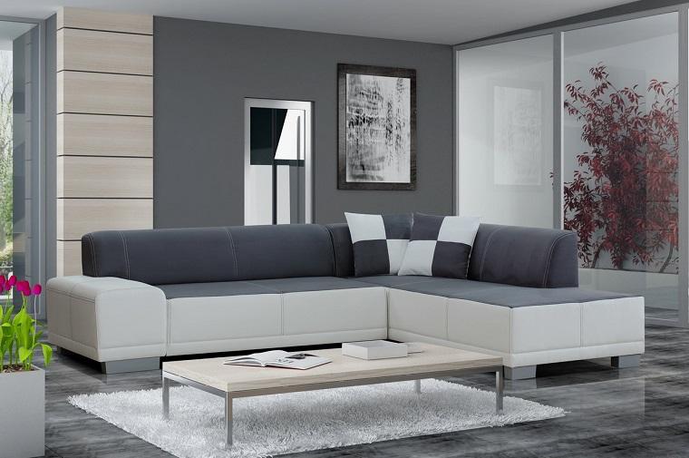 soggiorni moderni soluzione bianco grigio
