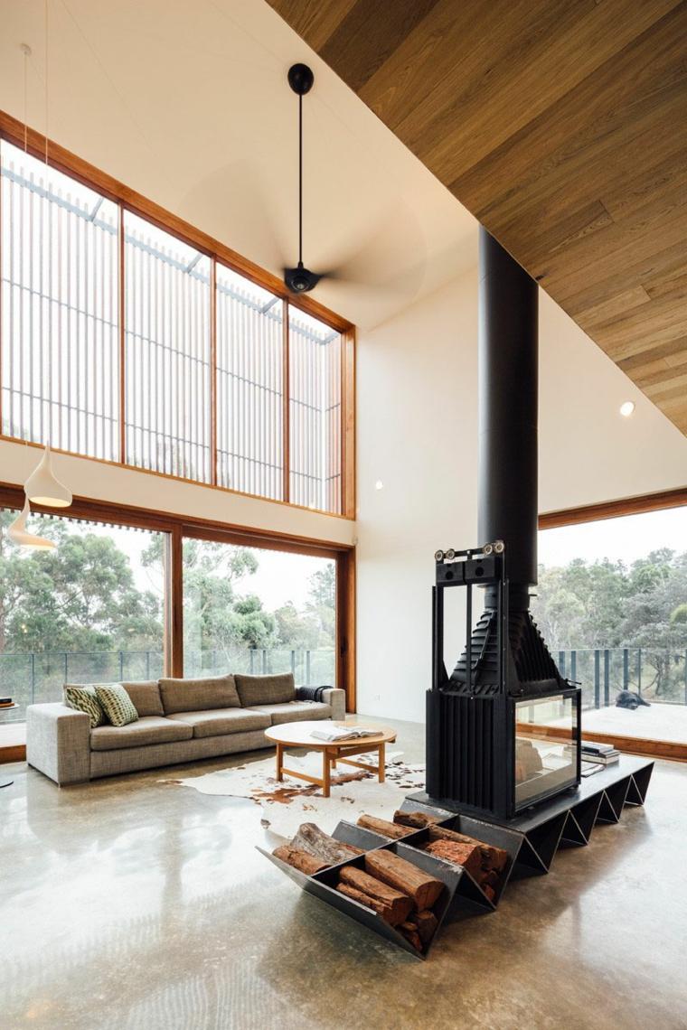 soggiorno con camino proposta mozzafiato design originale