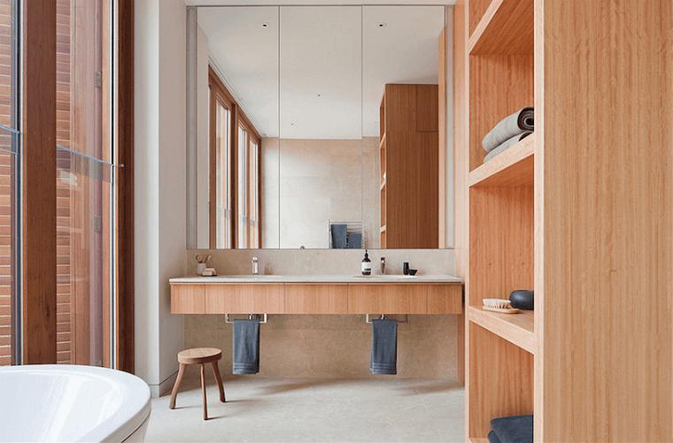 Specchi per bagno idee e soluzioni all 39 avanguardia - Specchio bagno legno ...