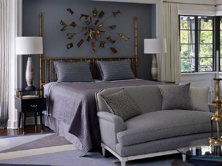 stanze da letto moderne decorazioni parete