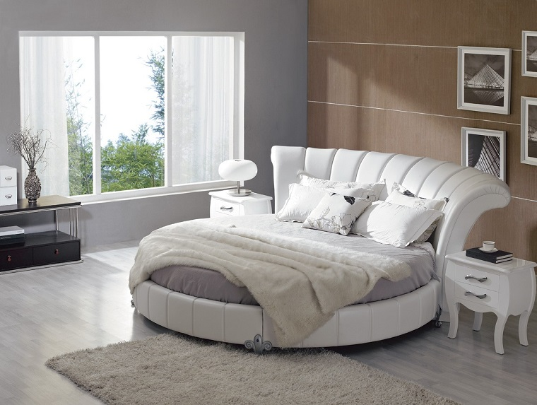 stanze da letto moderne letto matrimoniale forma rotonda