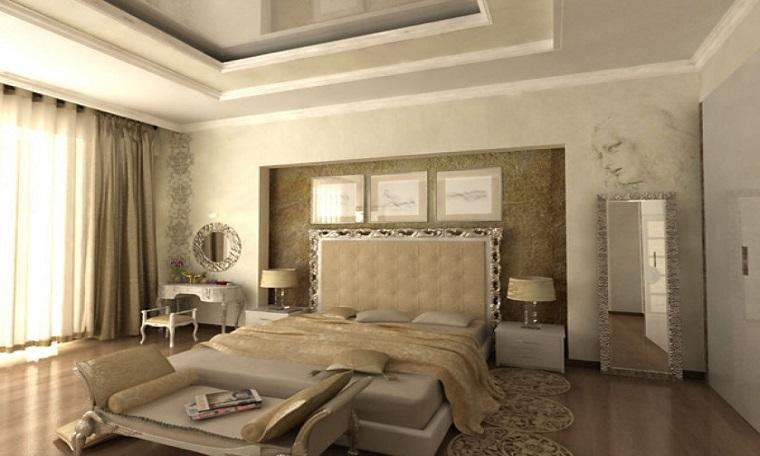 stile classico contemporaneo camera letto elementi pregio