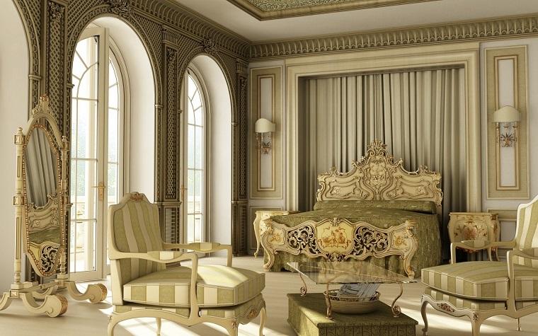 stile classico contemporaneo camera letto lussuosa