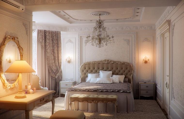 stile classico contemporaneo camera letto romantica