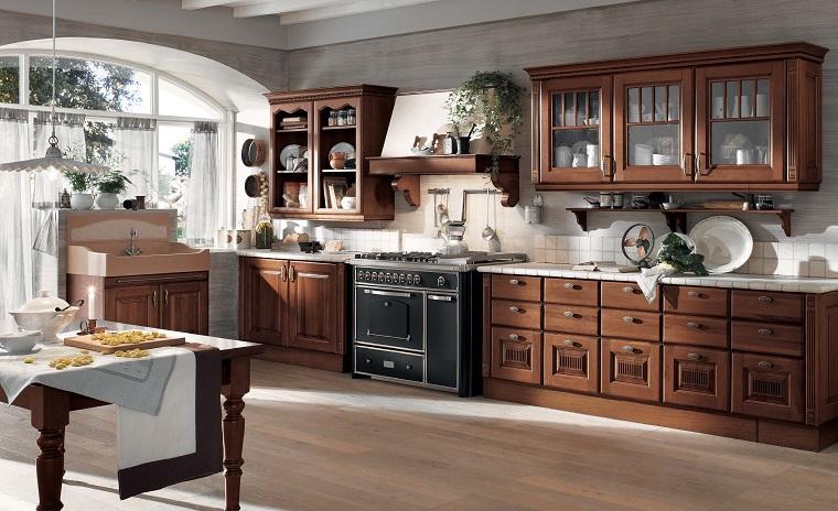 stile classico cucina mobili legno