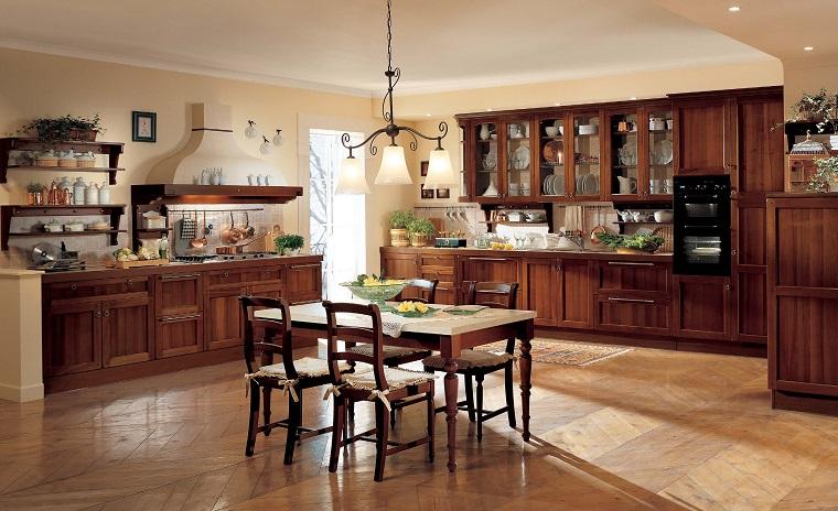 stile classico cucina tavolo centrale