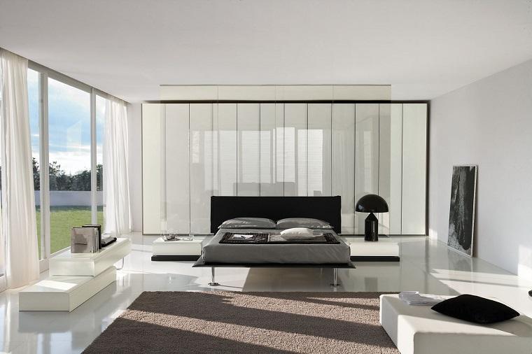 stile contemporaneo arredare camera letto armadio molto grande