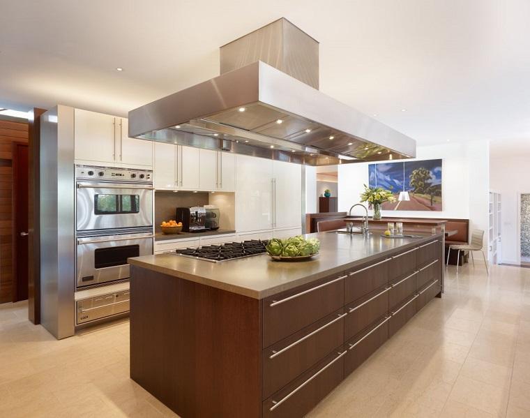 stile contemporaneo cucina design cappa sospesa isola centrale