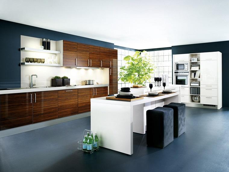 stile contemporaneo cucina isola colore bianco