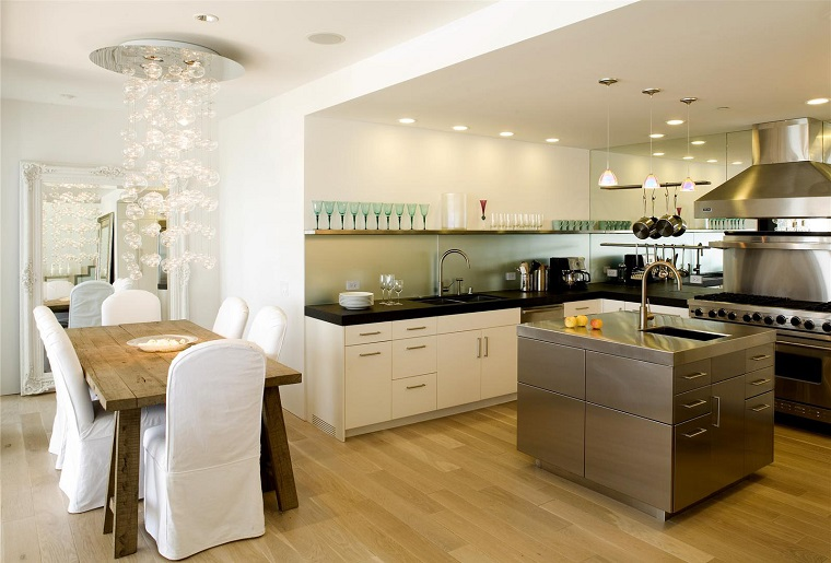 stile contemporaneo open space cucina sala pranzo