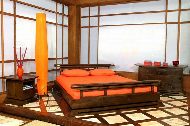 stile etnico camera letto mobili giapponesi